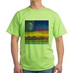 63.neworld flag w/flower of life..? Green T-Shirt