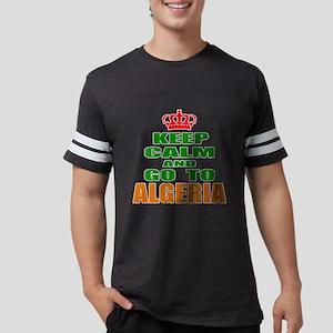 Keep Calm And Go To Algeria Co Mens Football Shirt