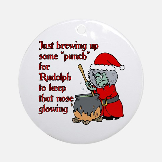 Brew for Rudolph Ornament (Round)