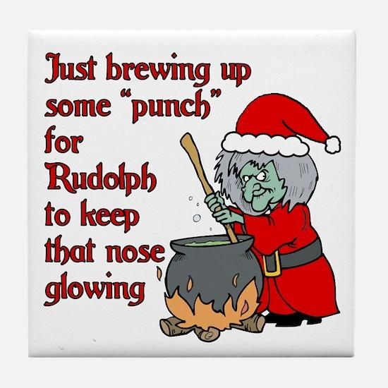 Brew for Rudolph Tile Coaster