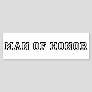 Man of Honor Bumper Sticker