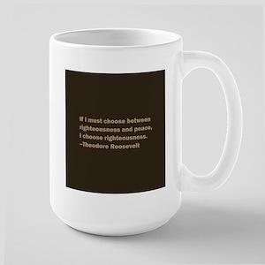 Theodore Roosevelt Quote Large Mug