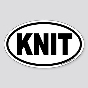 KNIT Euro Oval Sticker