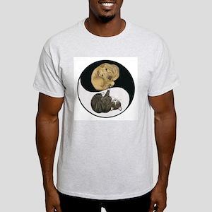 Tabby & Shar Pei Yin Yang Light T-Shirt