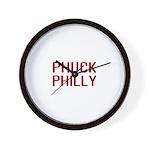Phuck Philly 2 Wall Clock