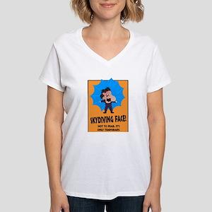 Skydiving Women's V-Neck T-Shirt