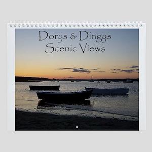 Dinghy Boats Collection Wall Calendar
