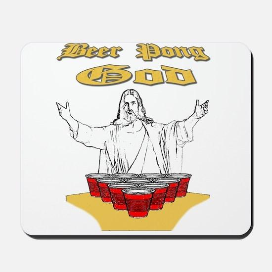 Beer Pong God Mousepad