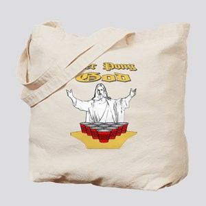 Beer Pong God Tote Bag