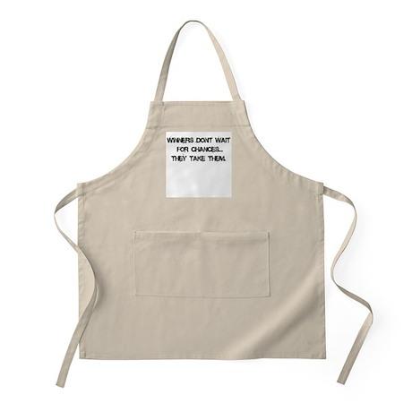 Winners don't wait BBQ Apron