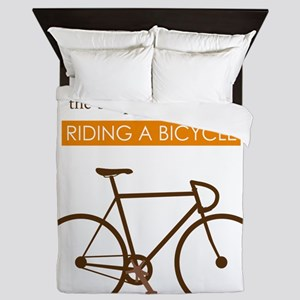 The Pleasure Of Riding A Bicycle Queen Duvet