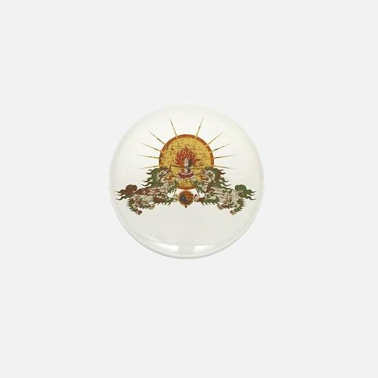 Tibetan Snow Lion Mini Button