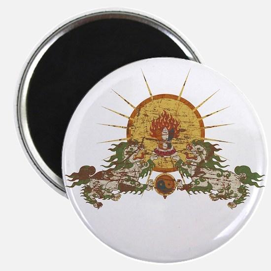"Tibetan Snow Lion 2.25"" Magnet (10 pack)"