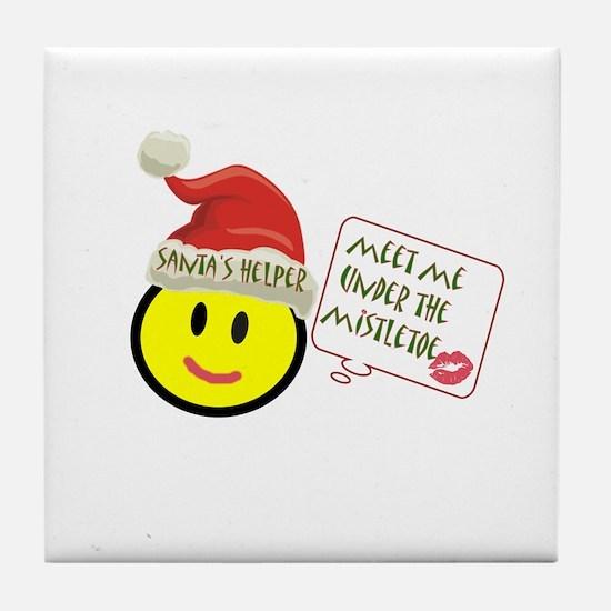 Unique Yoga christmas Tile Coaster