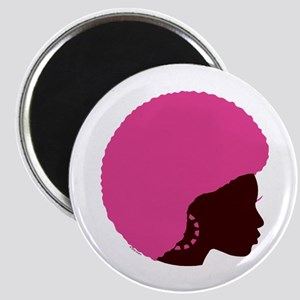 Pink Afro Magnet