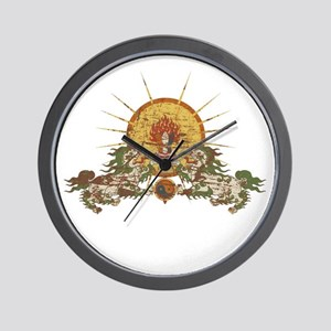 Tibetan Snow Lion Wall Clock