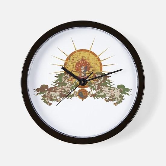 Tibetan Snow Lion Wall Clock