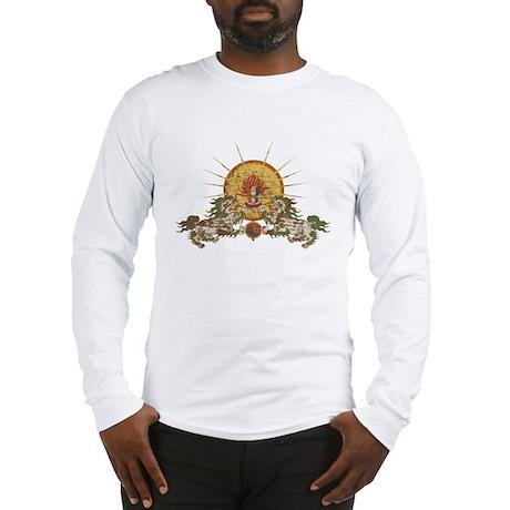 Tibetan Snow Lion Long Sleeve T-Shirt
