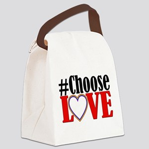 Choose Love Heart Canvas Lunch Bag