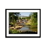 Greenville Liberty Bridge Framed Panel Print