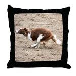 Red Border Collie Throw Pillow