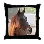 Chestnut Horse Throw Pillow