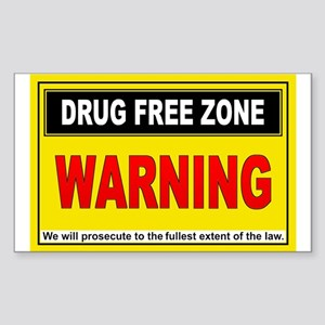 DRUG FREE ZONE Rectangle Sticker