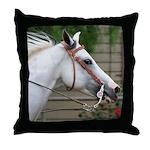 Gray Western Horse Throw Pillow