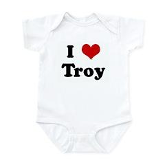 I Love Troy Infant Bodysuit