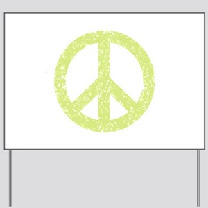 Vintage Peace Sign Yard Sign