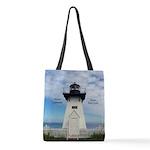 Olcott Lighthouse Polyester Tote Bag
