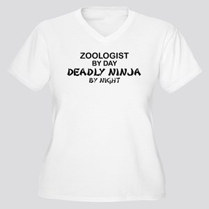 Zoologist Deadly Ninja Women's Plus Size V-Neck T-