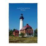 Au Sable Point Lighthouse 5'x7'area Rug