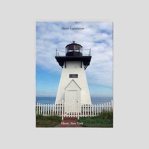 Olcott Lighthouse 5'x7'area Rug