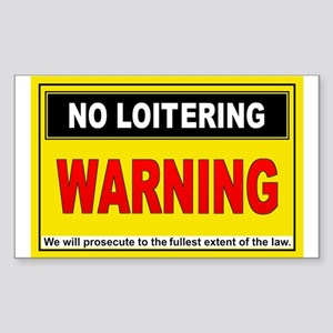 NO LOITERING Rectangle Sticker