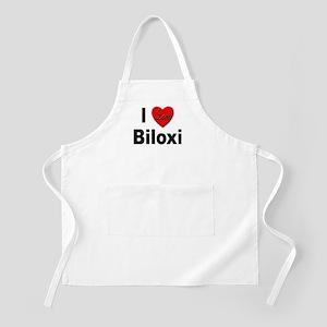 I Love Biloxi BBQ Apron