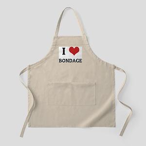 I Love Bondage BBQ Apron