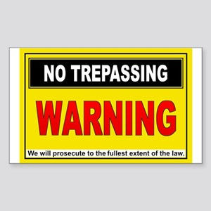 NO TREPASSING Rectangle Sticker