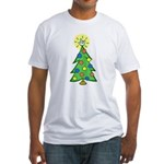ILY Christmas Tree Fitted T-Shirt
