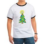 ILY Christmas Tree Ringer T