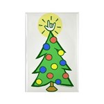 ILY Christmas Tree Rectangle Magnet (100 pack)