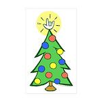 ILY Christmas Tree Rectangle Sticker 10 pk)
