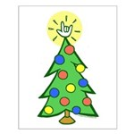 ILY Christmas Tree Small Poster