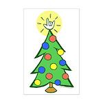 ILY Christmas Tree Mini Poster Print