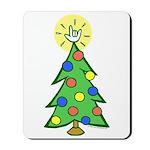 ILY Christmas Tree Mousepad