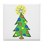 ILY Christmas Tree Tile Coaster