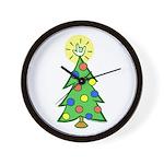 ILY Christmas Tree Wall Clock