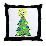 ILY Christmas Tree Throw Pillow