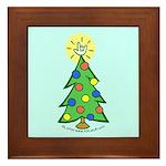 ILY Christmas Tree Blue Framed Tile