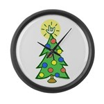 ILY Christmas Tree Large Wall Clock